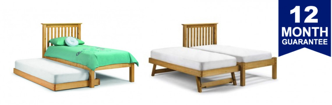 Barcelona Stone White Guest Bed Frame