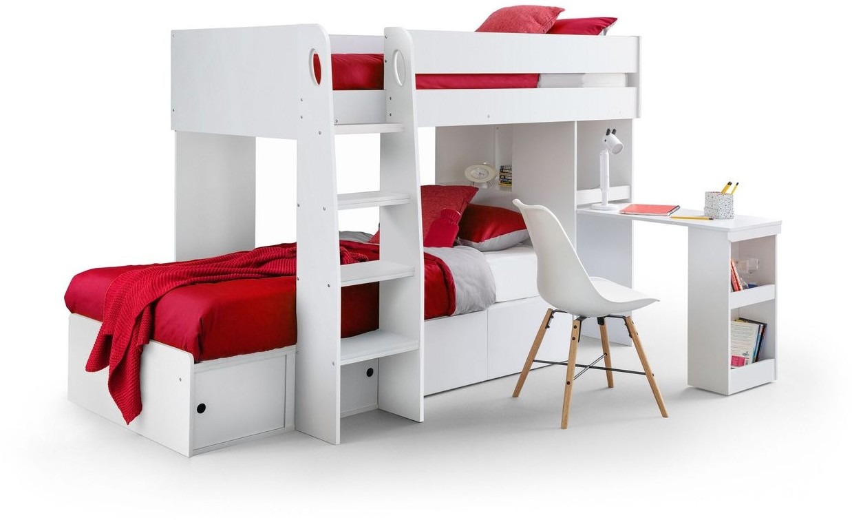 Julian Bowen Eclipse White Bunk Bed Childrens Beds The Bed Specialist