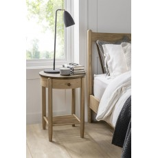 Utopia 1 Drawer Round Bedside Table