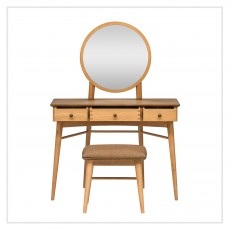 Utopia Dressing Table with Stool and Mirror