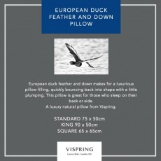 Vispring European Duck Feather & Down Pillow